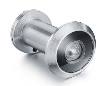 "200˚ Glass Lens Door Viewer  For Doors 1-3/8"" to 2-1/4"" - Matte Chrome"
