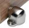 Floor-Mounted Magnetic Door Stop (Stainless Steel Brushed Satin Finish) mockup on wood door