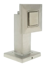 Square Face Magnetic Door Stop with hidden screw mounts (Stainless Steel Brushed Satin Finish)