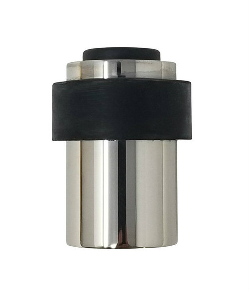 Duo - Wall and Floor Mount Door Stop Round 03 , Polished Stainless Steel