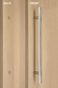 One Sided Ladder Pull Handle with Decorative Fixing (Polished Stainless Steel Finish)