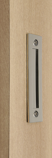 Flush Plate - Door Handle for Wood doors (Polished Stainless Steel Finish)