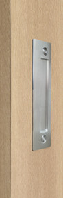 Flush Plate - Door Handle for Wood doors (Brushed Satin Stainless Steel Finish)
