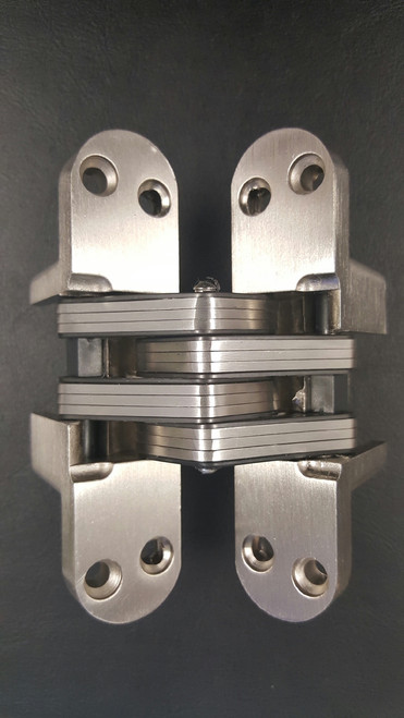 """Concealed invisible hinge intended for 1-3/4"""" thick doors, Zinc Alloy Body, Stainless Steel Connector,  Satin Nickel Finish-1"""