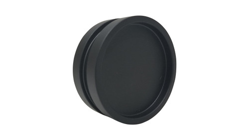 """Round Handle Back-to-Back - 2.5"""" Diameter - For Wood and Glass Doors (Black Powder Stainless Steel Finish)"""