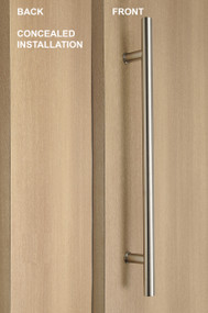 One Sided Ladder Pull Handle with Concealed Fixing (Brushed Satin Stainless Steel Finish)