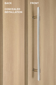 One Sided Ladder Pull Handle with Concealed Fixing (Polished Stainless Steel Finish)