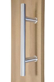 "10"" Ladder Style Back-to-Back Pull Handle,  3/4"" diameter (Brushed Satin Stainless Steel Finish)"