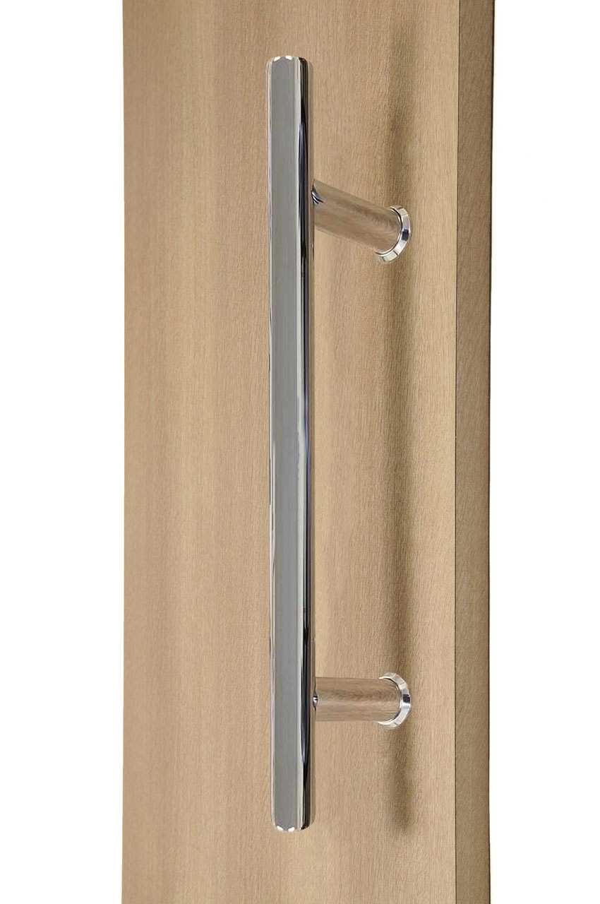 "12"" ladder style back to back pull handle, 3 4\"" diameter (polished stainless steel finish)"