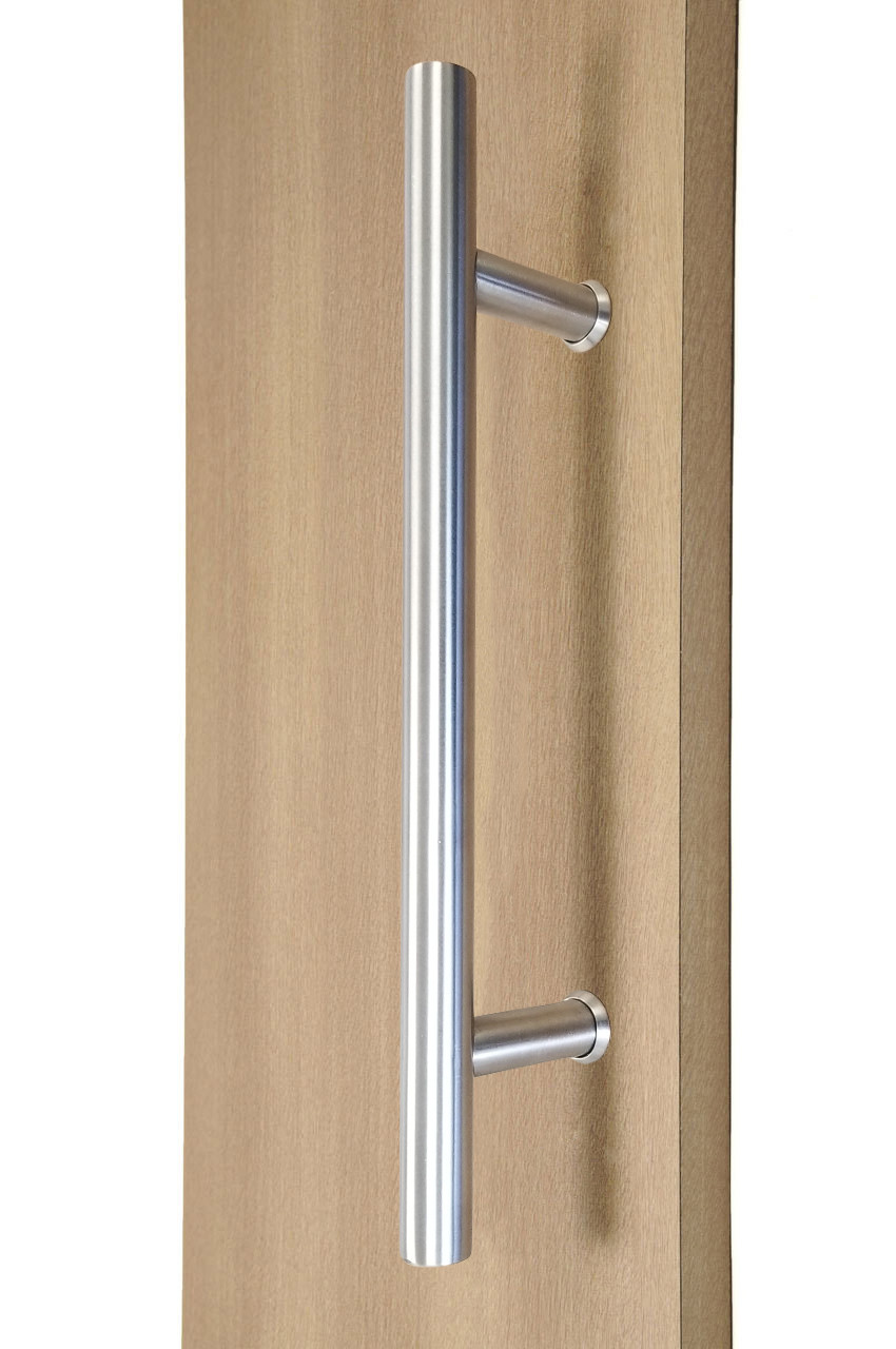 """12\"""" ladder style back to back pull handle, 3 4\"""" diameter (brushed satin stainless steel finish)"""
