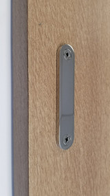 Low-Profile Back-to-Back Sliding  Door Pull  (Polished Stainless Steel Finish)