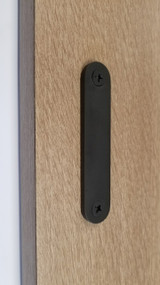 Low Profile Back-to-Back Stainless Steel Barn Door Handles (Black Powder Stainless Steel Finish)