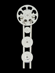 Spinner-WF Barn Door Roller - Polished Chrome Finish