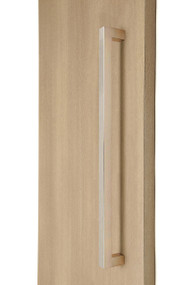 "1"" x 1"" Square  Pull Handle - Back-to-Back  (Brushed Satin Stainless Steel Finish)"