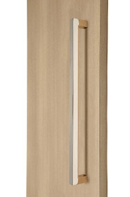 """1"""" x 1"""" Square  Pull Handle - Back-to-Back  (Polished Stainless Steel Finish)"""