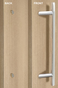 One Sided 45º Offset Ladder Pull Handle with Decorative Fixing (Polished Stainless Steel Finish)