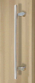 PostMount Offset Pull Handle - Back-to-Back (Polished Stainless Steel Finish)