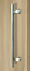 PostMount Offset Pull Handle - Back-to-Back (Brushed Satin Stainless Steel Finish)