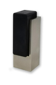 Tall Square Door Stop 04 , Brushed Satin Stainless Steel