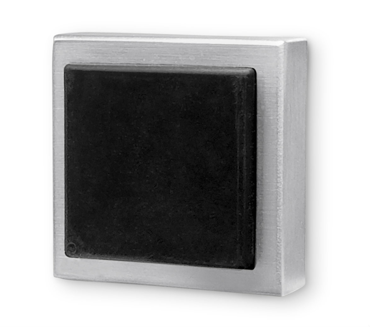 Square Wall Mounted Door Stop Brushed Satin Stainless Steel