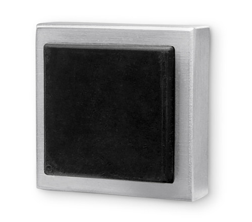 Square Wall Mounted Door Stop 05 - Brushed Satin Stainless Steel