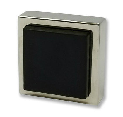 Square Wall Mounted Door Stop 05 - Polished Stainless Steel
