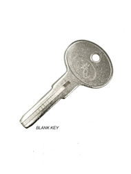 Key for the re-locking system - Blank