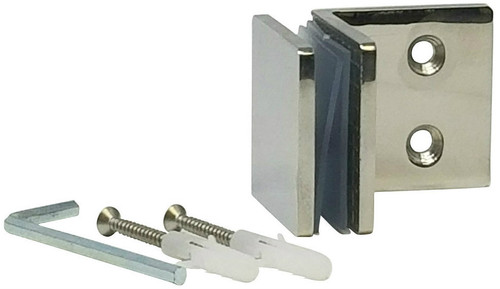 90 Degree Fixed Panel Square Clamp (Polished Stainless Steel Finish)