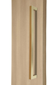 """1"""" x 1"""" Square  Pull Handle - Back-to-Back (Satin Brass Stainless Steel PVD Finish)"""
