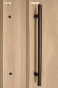 One Sided Ladder Pull Handle with Decorative with Decorative Thru-Bolt End Cap (Bronze Stainless Steel Finish)