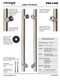 Specification Chart Pro-Line Series:  PostMount Offset Pull Handle - Back-to-Back, Polished US32/629 Finish, 316 Exterior Grade Stainless Steel Alloy