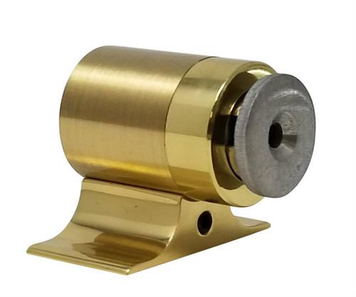 Floor-Mounted Magnetic Door Stop (Brass Gold Finish)