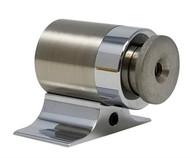 Floor-Mounted Magnetic Door Stop (Brass Satin Nickel Finish)