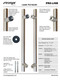 Specification Chart Pro-Line Series: Ladder Pull Handle - Back-to-Back, Brushed Satin US32D/630 Finish, 304 Grade Stainless Steel Alloy