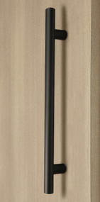 Pro-Line Series: Ladder Pull Handle - Back-to-Back, Matte Black Powder Coated Finish, 304 Grade Stainless Steel Alloy