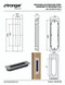 """Installation Instruction One-Sided 6-5/16"""" Pressure Fit Recess Pull Handle, Snap-In, for Wood Doors - Rectangular (Brushed Satin Stainless Steel)"""