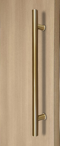 Ladder Pull Handle - Back-to-Back (Satin Brass Stainless Steel PVD Finish)