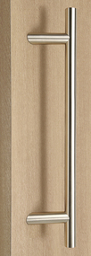 Pro-Line Series:  One Sided 45º Offset Ladder Pull Handle, Brushed Satin US32D/630 Finish, 316 Exterior Grade Stainless Steel Alloy