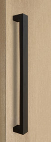 """One Sided 1.5"""" x 1"""" Rectangular Pull Handle, Matte Black Powder Coated Finish, 304 Grade Stainless Steel Alloy"""