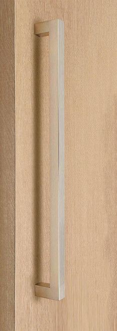 """One Sided 1"""" x 1"""" Square Pull Handle, Brushed Satin US32D/630 Finish, 304 Grade Stainless Steel Alloy"""