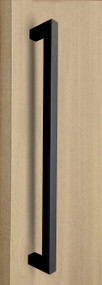 """One Sided 1"""" x 1"""" Square Pull Handle, Matte Black Powder Coated Finish, 304 Grade Stainless Steel Alloy"""