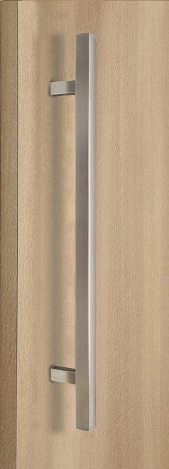 """One Sided 1"""" x 1"""" Square Ladder Pull Handle, Brushed Satin US32D/630 Finish, 304 Grade Stainless Steel Alloy"""