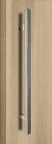 "One Sided 1"" x 1"" Square Ladder Pull Handle, Polished US32/629 Finish, 304 Grade Stainless Steel Alloy"