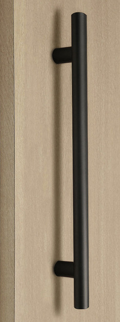 Pro-Line Series: One Sided Ladder Pull Handle, Matte Black Powder Coated Finish, 304 Grade Stainless Steel Alloy