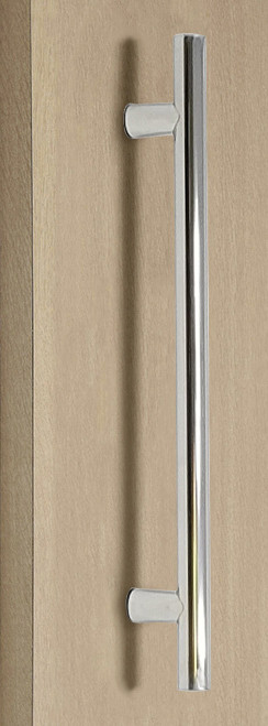 Pro-Line Series: One Sided Ladder Pull Handle, Polished US32/629 Finish, 304 Grade Stainless Steel Alloy