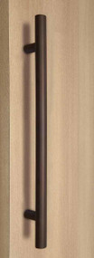 One Sided Ladder Pull Handle, Bronze Powder Coated Finish, 304 Grade Stainless Steel Alloy