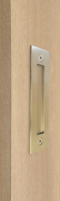 Flush Plate - Door Handle for Wood doors (Satin Brass Stainless Steel Finish)