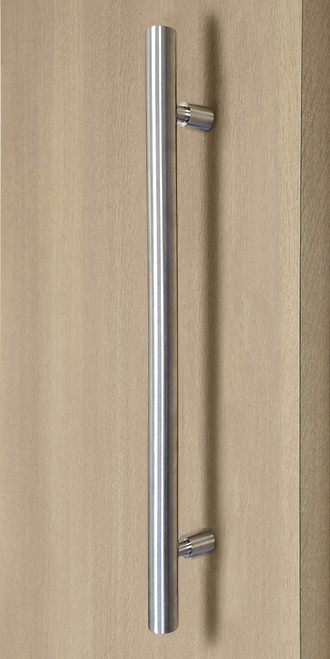 Product Image Pro-Line Series: Ladder Pull Handle with Floating Necked Posts - Back-to-Back, Brushed Satin US32D/630 Finish, 304 Grade Stainless Steel Alloy