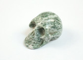 Skull Green Tree Agate Hand Carved Green White Stone