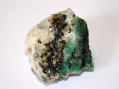 Green Emerald and White Calcite Mineral Specimen